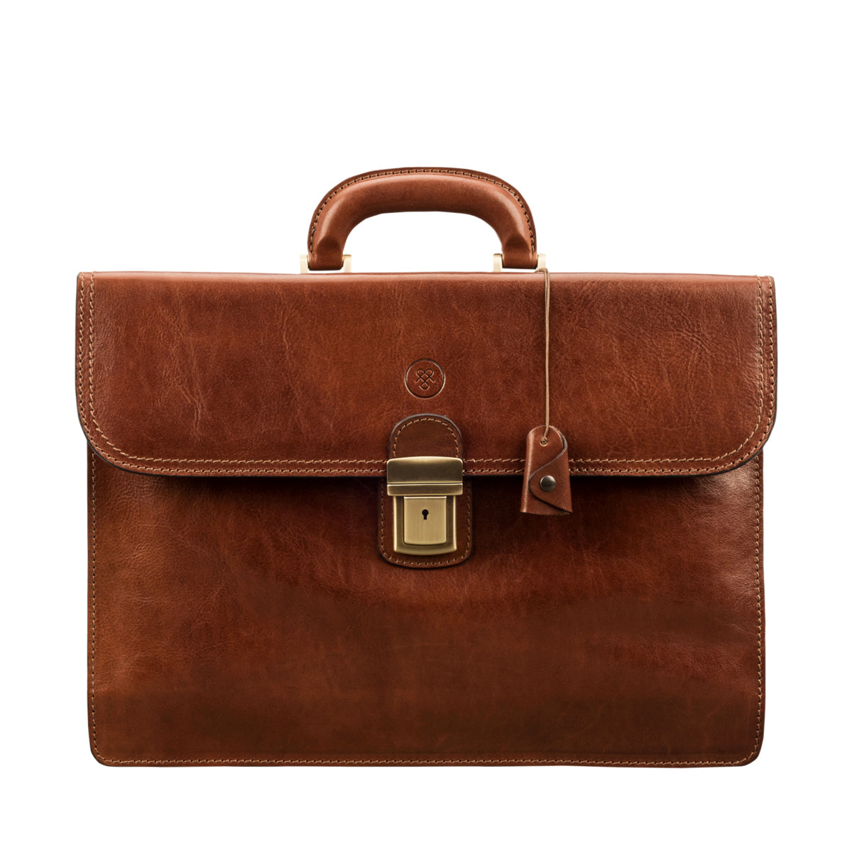 Image 1 of the 'Paolo Due' Handmade Chestnut Veg-Tanned Leather Suitcase