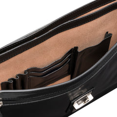Image 6 of the 'Paolo Tre' Handmade Black Veg-Tanned Leather Suitcase