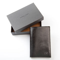 Image 6 of the 'Pianillo' Black Veg-Tanned Leather Breast Wallet