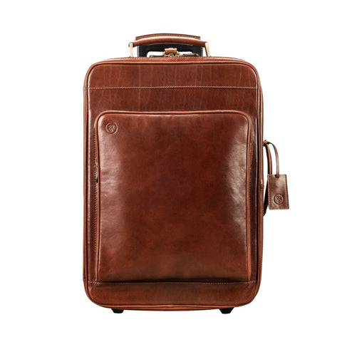 Image 1 of the 'Piazzale' Chestnut Veg-Tanned Leather Wheeled Suitcase
