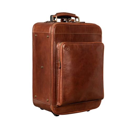 Image 2 of the 'Piazzale' Chestnut Veg-Tanned Leather Wheeled Suitcase