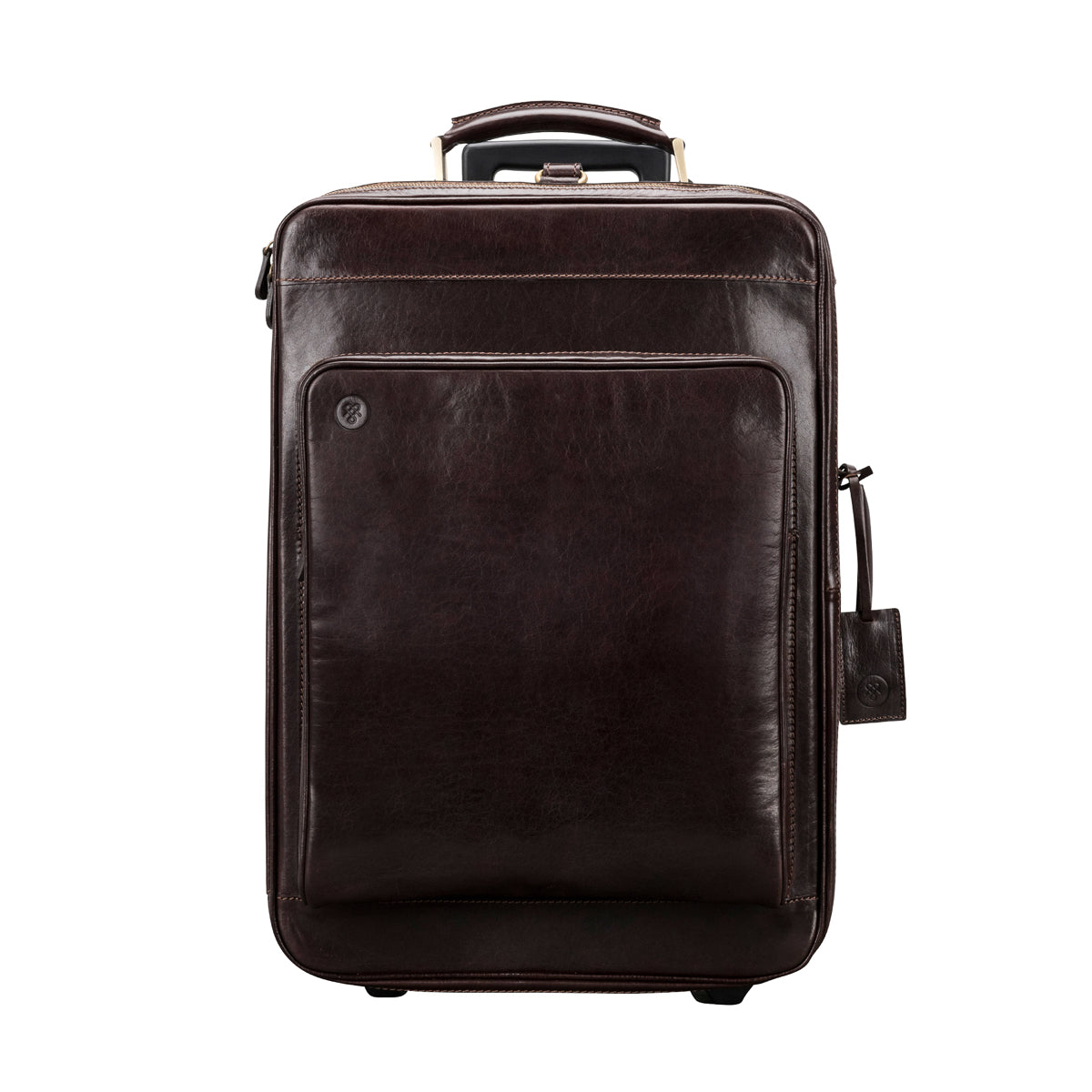Image 1 of the 'Piazzale' Dark Chocolate Veg-Tanned Leather Wheeled Suitcase