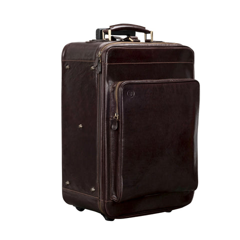 Image 2 of the 'Piazzale' Dark Chocolate Veg-Tanned Leather Wheeled Suitcase
