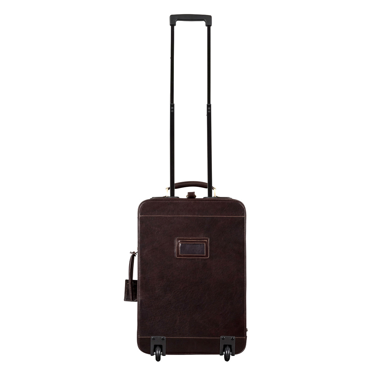 Image 4 of the 'Piazzale' Dark Chocolate Veg-Tanned Leather Wheeled Suitcase