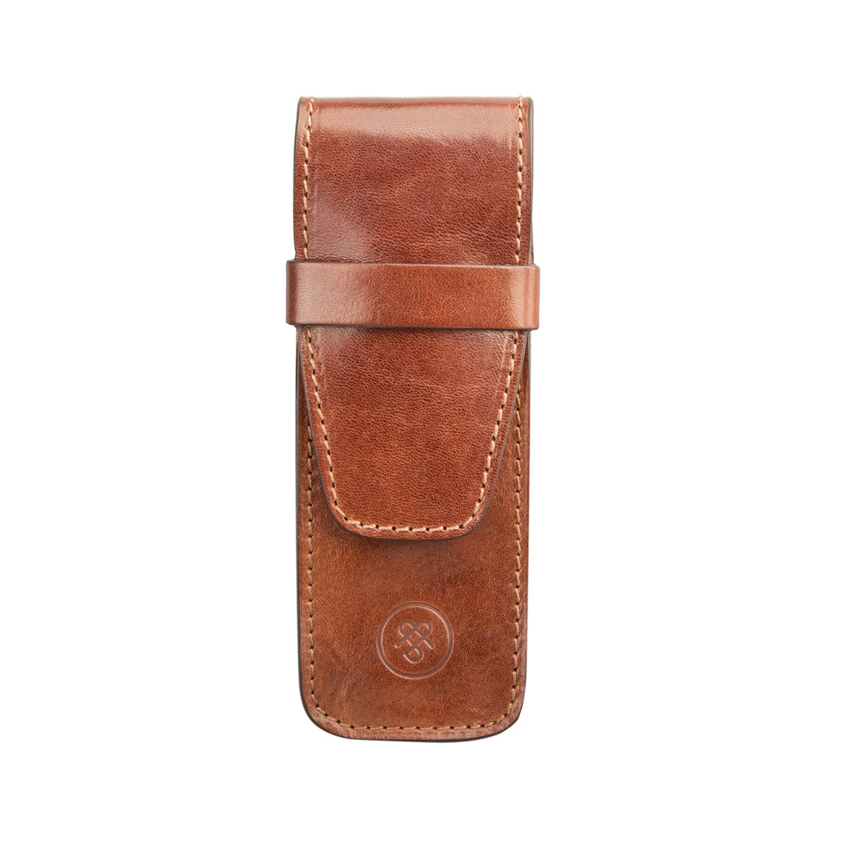 Image 1 of the 'Pienza' Chestnut Veg-Tanned Leather Pen Case