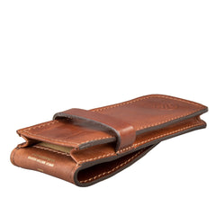 Image 4 of the 'Pienza' Chestnut Veg-Tanned Leather Pen Case