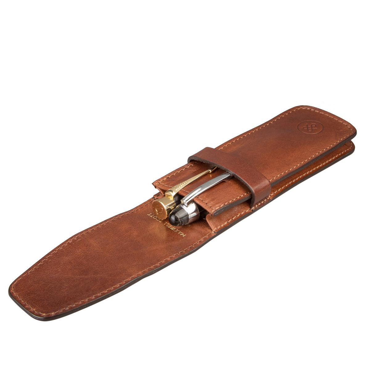 Image 5 of the 'Pienza' Chestnut Veg-Tanned Leather Pen Case
