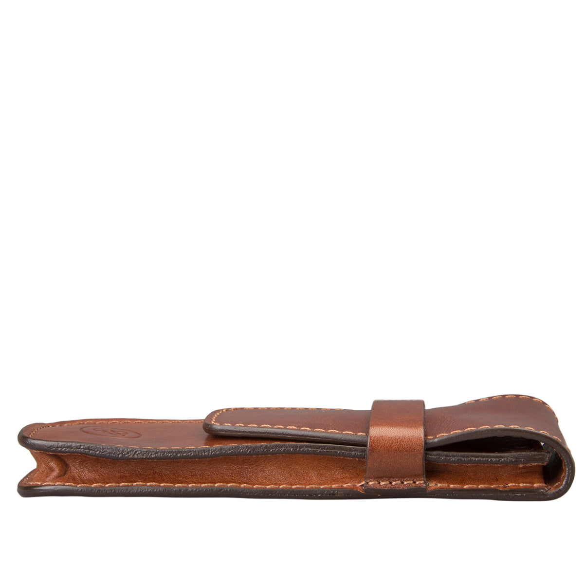 Image 3 of the 'Pienza' Chestnut Veg-Tanned Leather Pen Case
