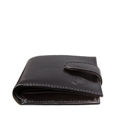 Image 6 of the 'Pietre' Black Veg-Tanned Leather Compact Wallet
