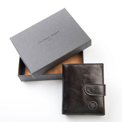 Image 7 of the 'Pietre' Black Veg-Tanned Leather Compact Wallet