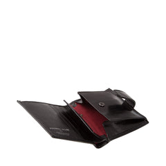 Image 5 of the 'Pietre' Black Veg-Tanned Leather Compact Wallet