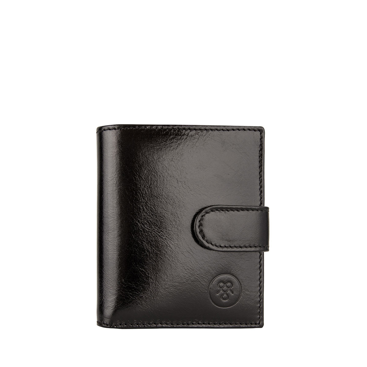 Image 1 of the 'Pietre' Black Veg-Tanned Leather Compact Wallet