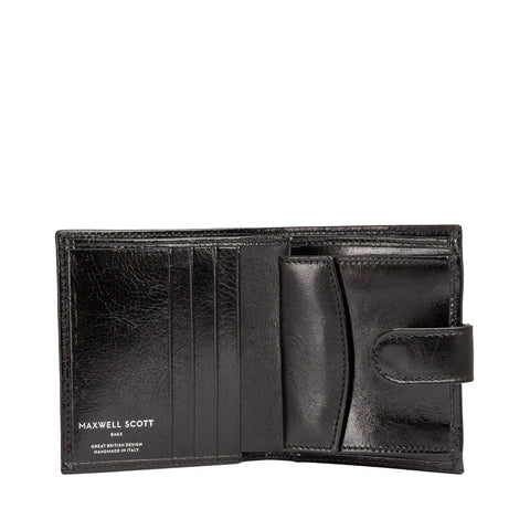 Image 2 of the 'Pietre' Black Veg-Tanned Leather Compact Wallet