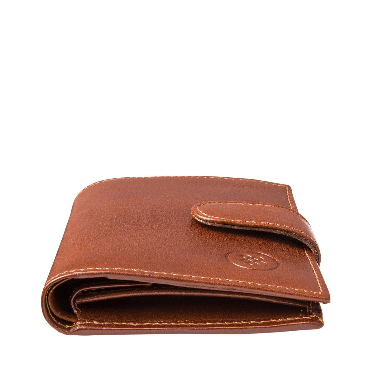 Image 6 of the 'Pietre' Chestnut Veg-Tanned Leather Compact Wallet