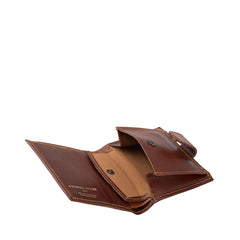 Image 5 of the 'Pietre' Chestnut Veg-Tanned Leather Compact Wallet