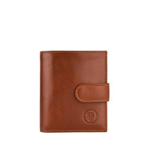 Image 1 of the 'Pietre' Chestnut Veg-Tanned Leather Compact Wallet