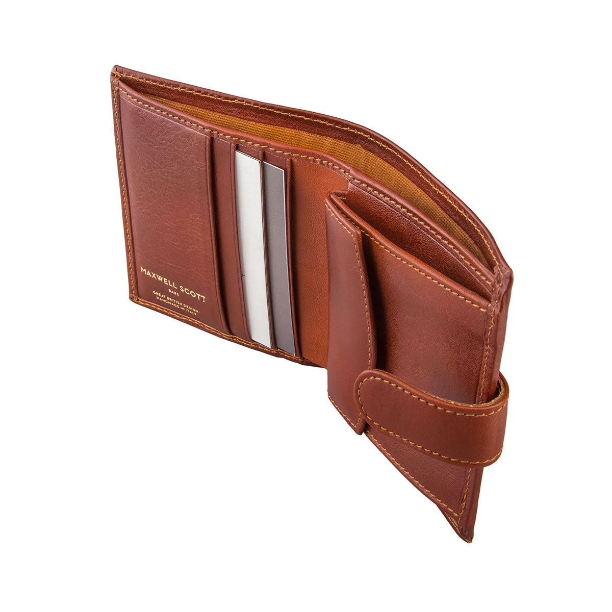 Image 4 of the 'Pietre' Chestnut Veg-Tanned Leather Compact Wallet