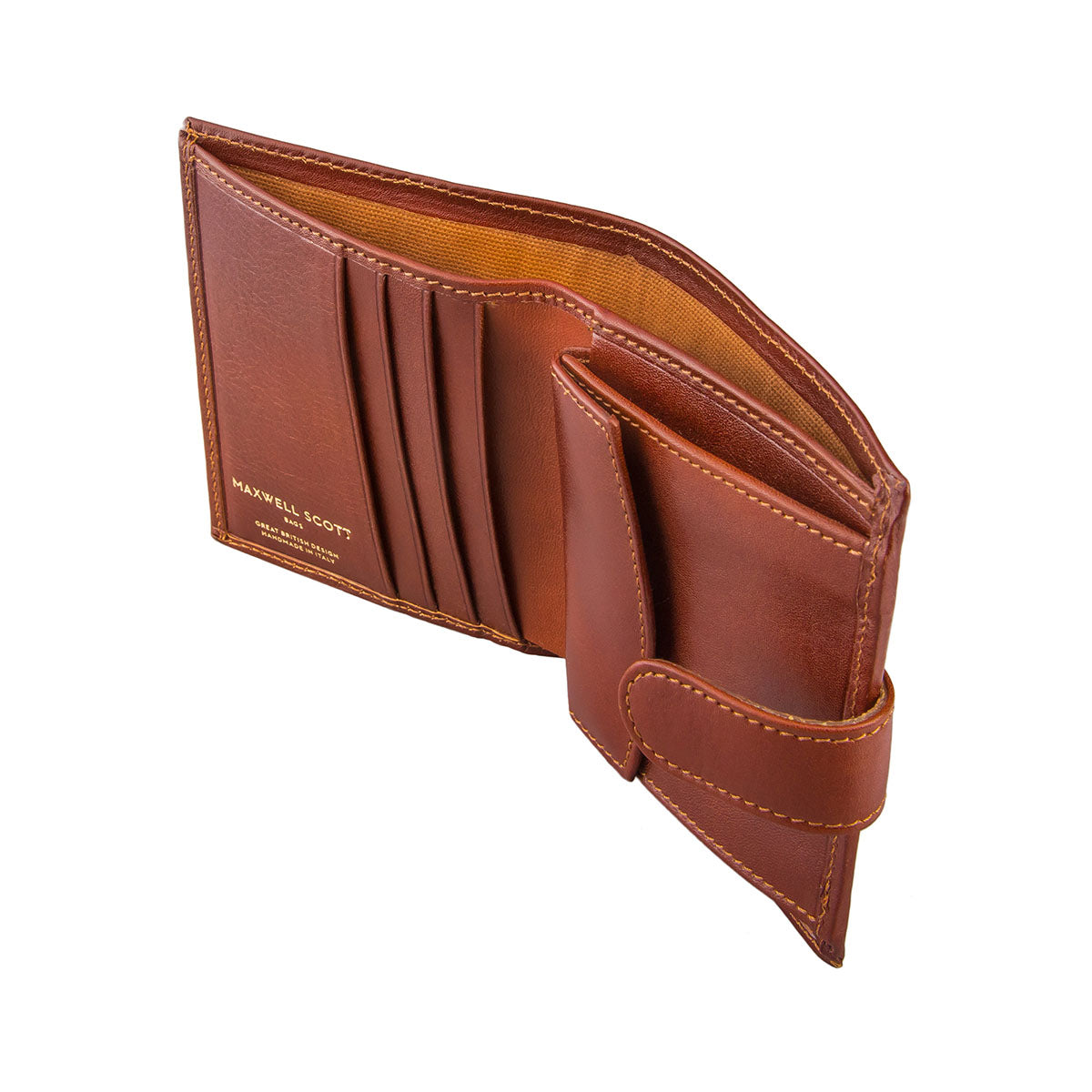 Image 3 of the 'Pietre' Chestnut Veg-Tanned Leather Compact Wallet