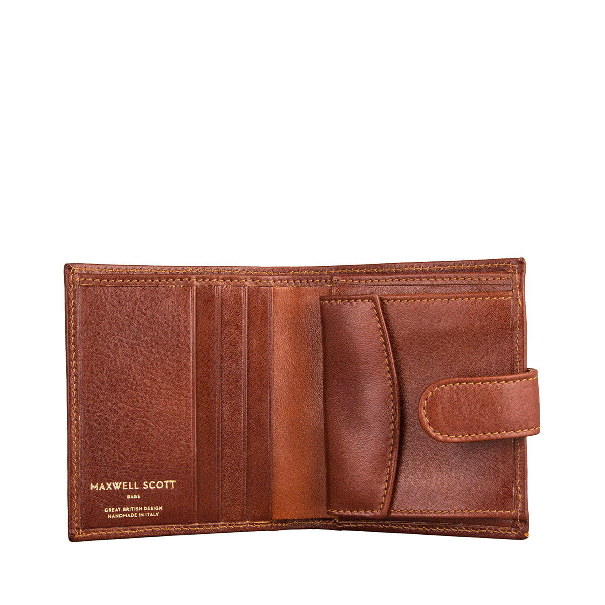 Image 2 of the 'Pietre' Chestnut Veg-Tanned Leather Compact Wallet