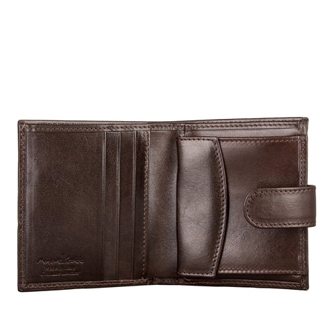 Image 2 of the 'Pietre' Brown Veg-Tanned Leather Compact Wallet