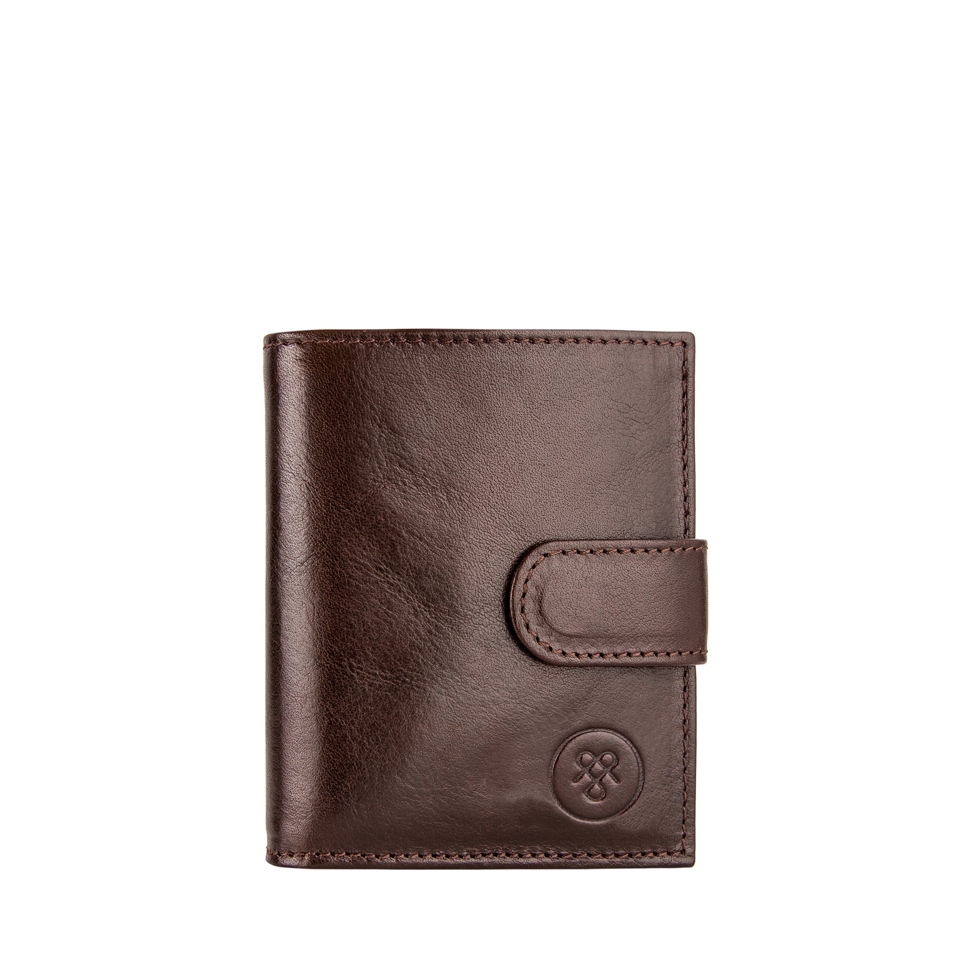 Image 1 of the 'Pietre' Brown Veg-Tanned Leather Compact Wallet