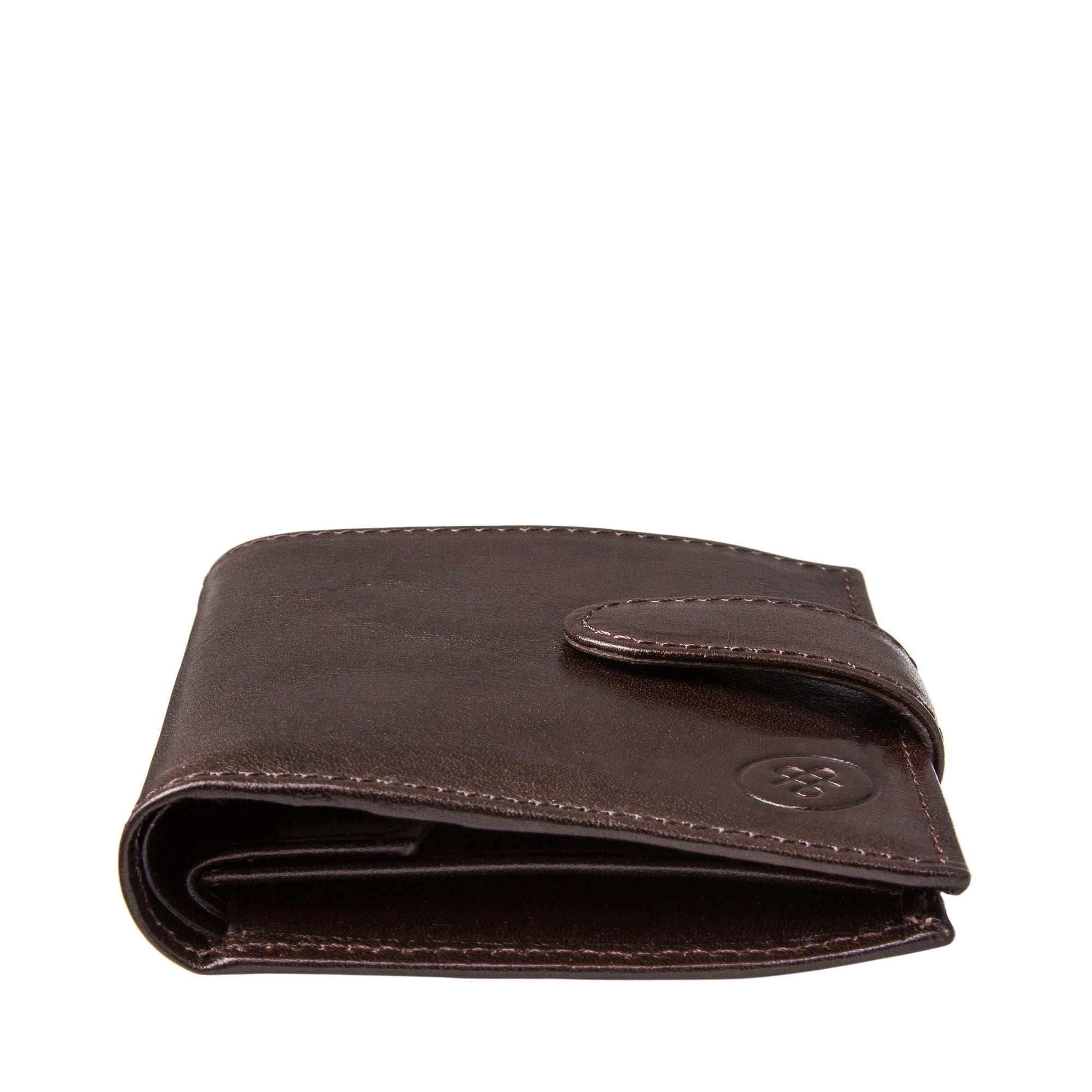 Image 6 of the 'Pietre' Brown Veg-Tanned Leather Compact Wallet