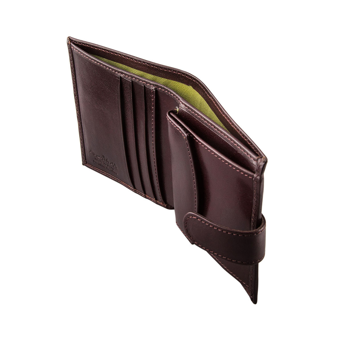 Image 3 of the 'Pietre' Brown Veg-Tanned Leather Compact Wallet