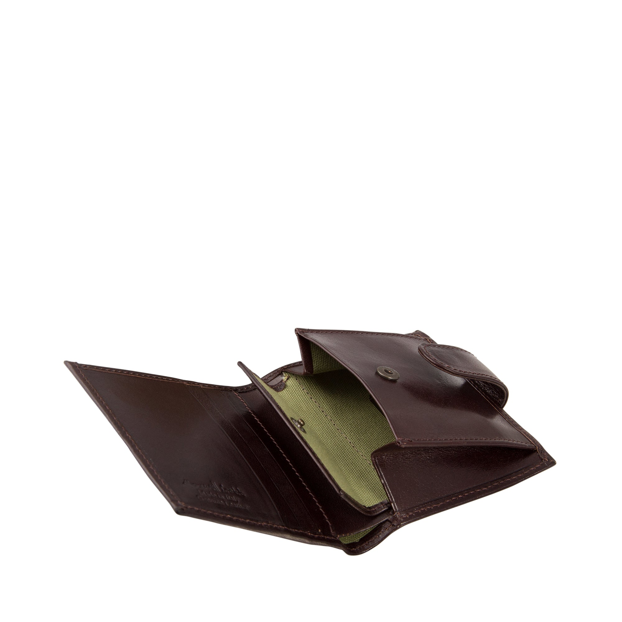 Image 5 of the 'Pietre' Brown Veg-Tanned Leather Compact Wallet