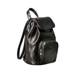 Image 2 of the 'Popolo' Compact Black Veg-Tanned Leather Shoulder Bag