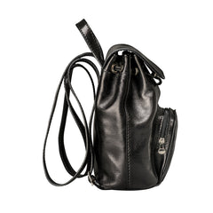 Image 3 of the 'Popolo' Compact Black Veg-Tanned Leather Shoulder Bag