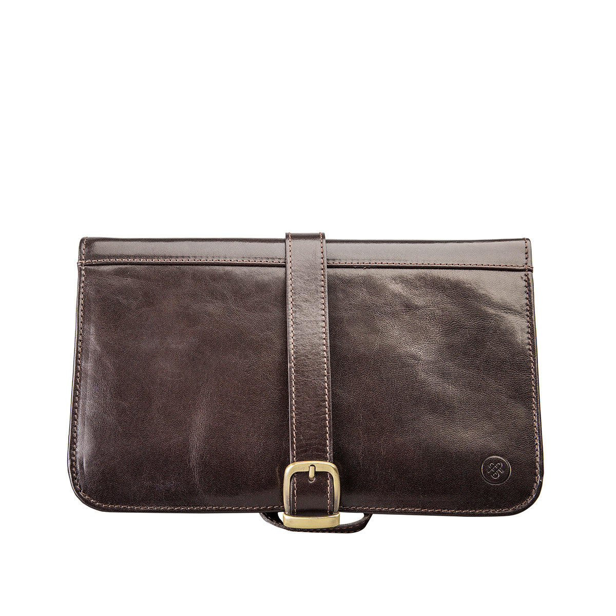 Image 1 of the 'Pratello' Dark Chocolate Veg-Tanned Leather Wash Bag