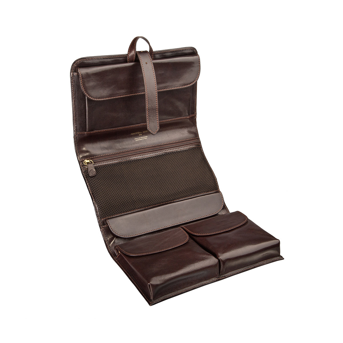 Image 5 of the 'Pratello' Dark Chocolate Veg-Tanned Leather Wash Bag