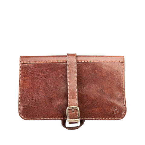 Image 1 of the 'Pratello' Chestnut Veg-Tanned Leather Wash Bag