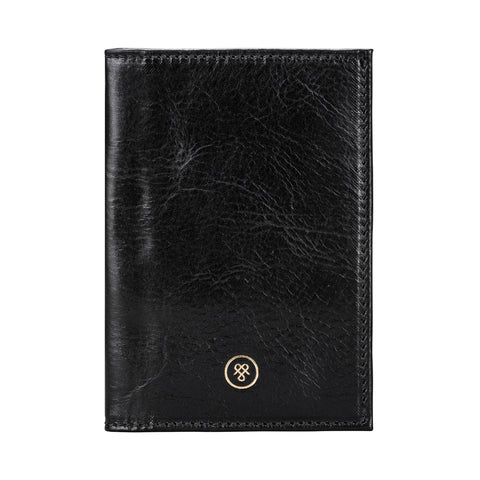 Image 1 of the 'Prato' Black Veg-Tanned Leather Passport Wallet