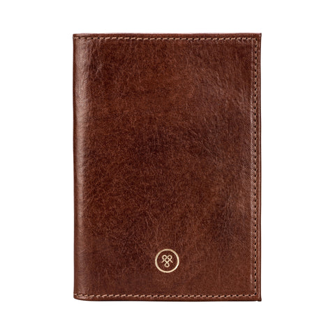 Image 1 of the 'Prato' Chestnut Tan Veg-Tanned Leather Passport Wallet