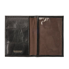 Image 5 of the 'Prato' Black Veg-Tanned Leather Passport Wallet