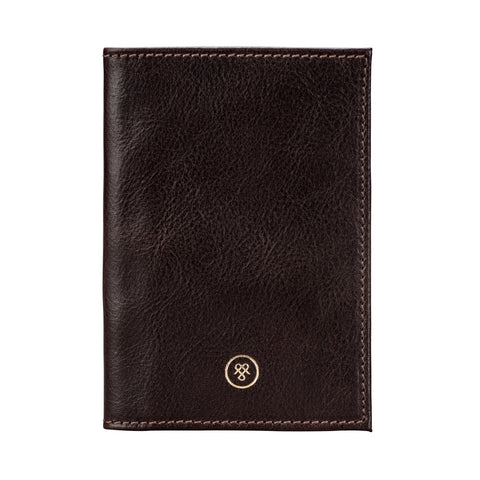 Image 1 of the 'Prato' Dark Chocolate Veg-Tanned Leather Passport Wallet