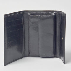 Image 1 of the Black Leather Ladies Purse Wallet