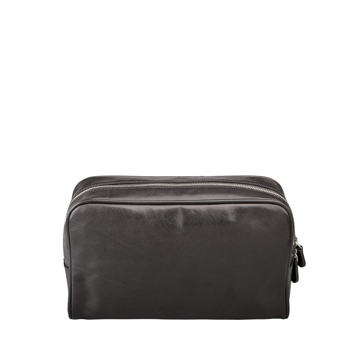 Image 4 of the 'Raffaelle' Black Veg-Tanned Leather Wash Bag