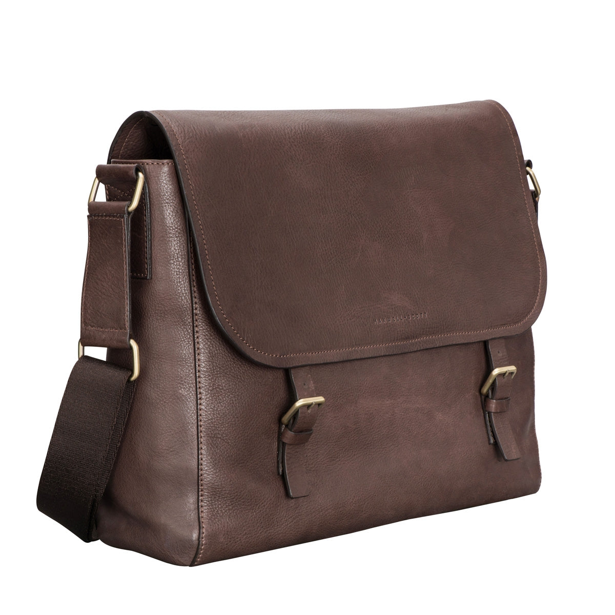 Image 2 of the 'Ravenna' Brown Leather Classic Men's Satchel Bag