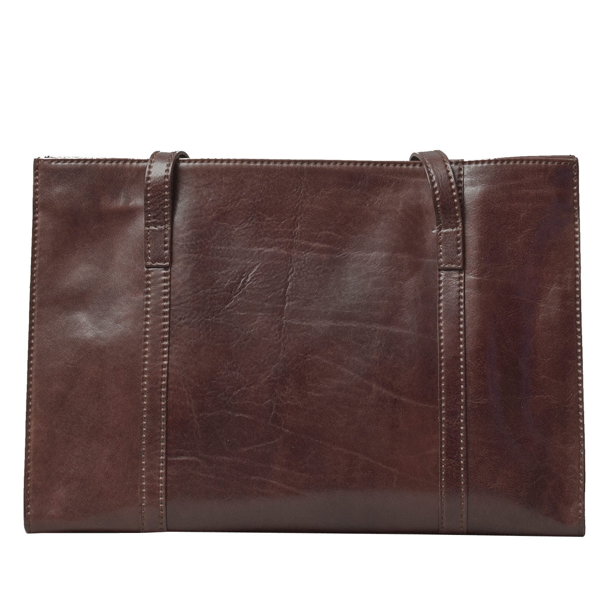 Image 4 of the 'Rivara' Brown Large Leather Shoulder Bag For Ladies
