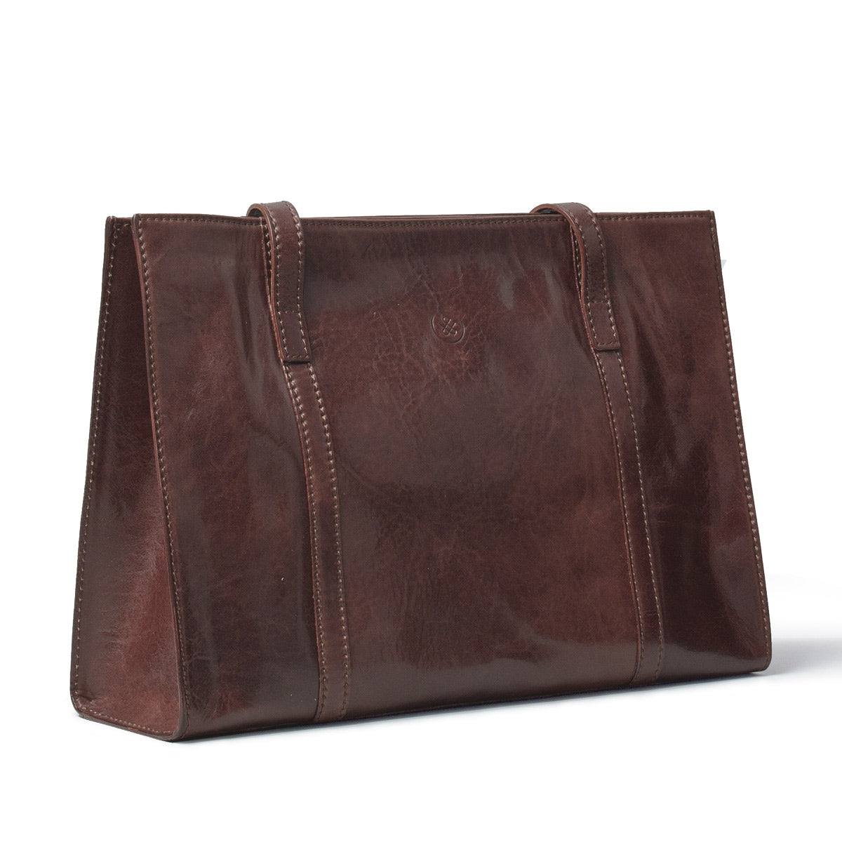 Image 2 of the 'Rivara' Brown Large Leather Shoulder Bag For Ladies