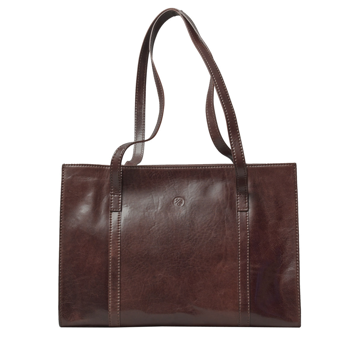 Image 1 of the 'Rivara' Brown Large Leather Shoulder Bag For Ladies