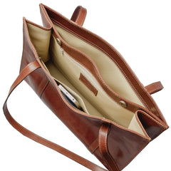 Image 5 of the 'Rivara' Brown Large Leather Shoulder Bag For Ladies