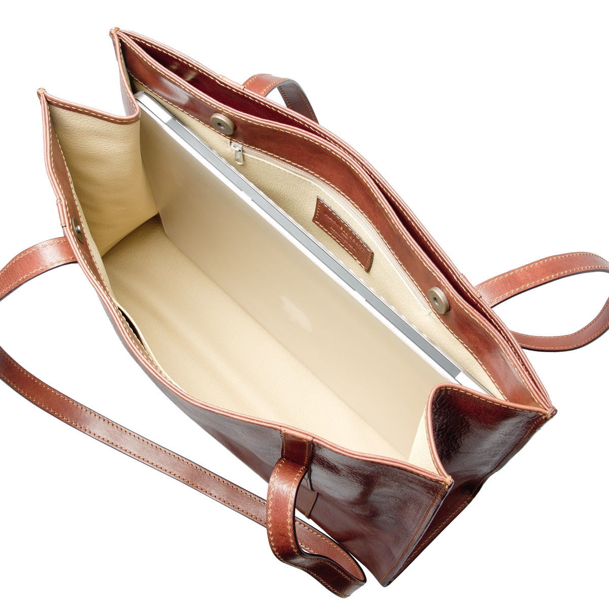 Image 6 of the 'Rivara' Brown Large Leather Shoulder Bag For Ladies