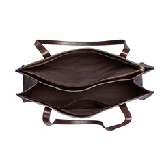 Image 6 of the 'Rivara' Large Dark Chocolate Veg-Tanned Leather Shoulder Bag