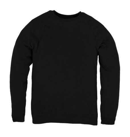 Men's Organic Cotton Black Jumper