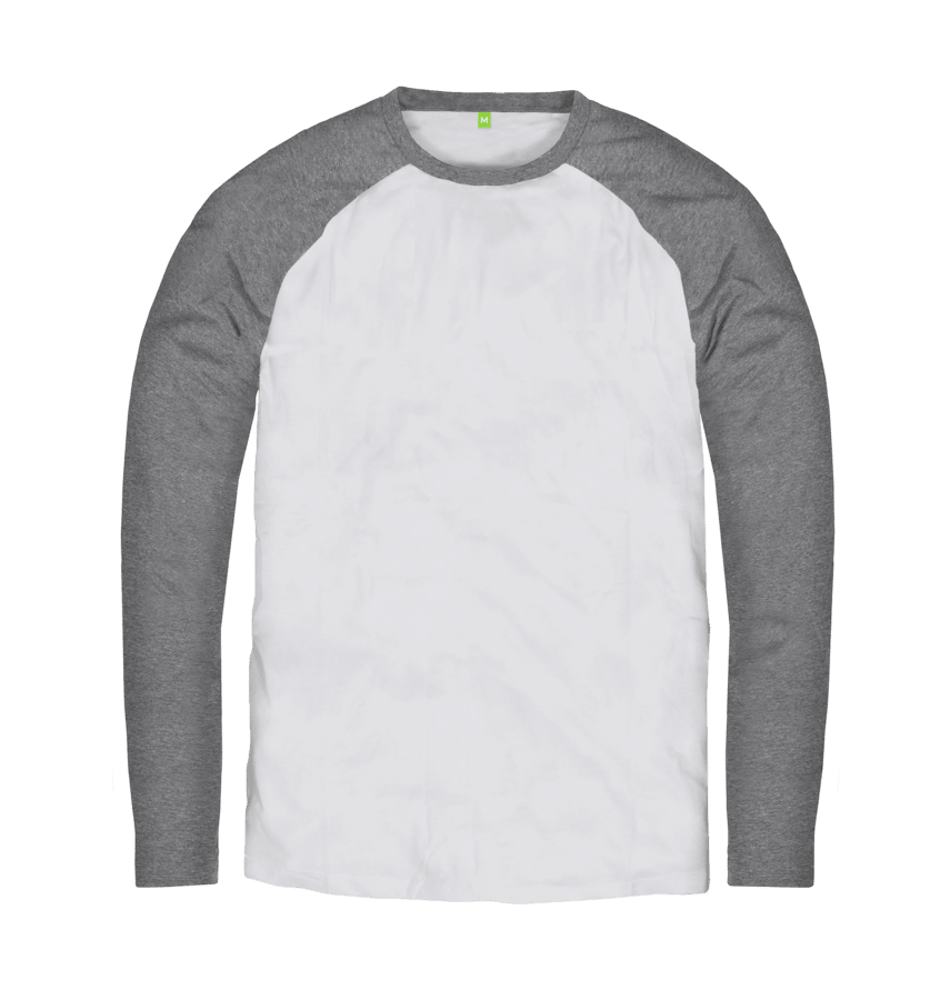 Men's Organic Cotton Contrast Light Grey Jumper