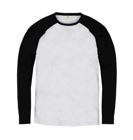 Men's Organic Cotton Contrast Black Jumper