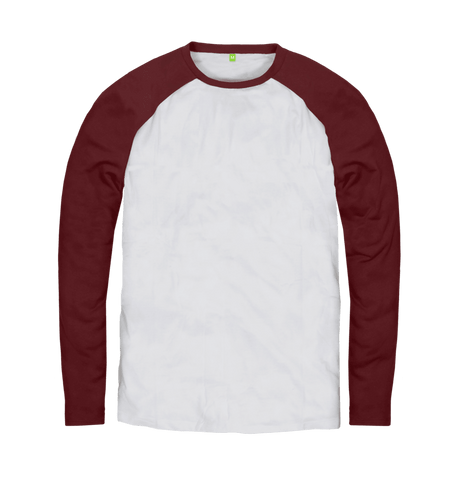 Men's Organic Cotton Contrast Red Jumper